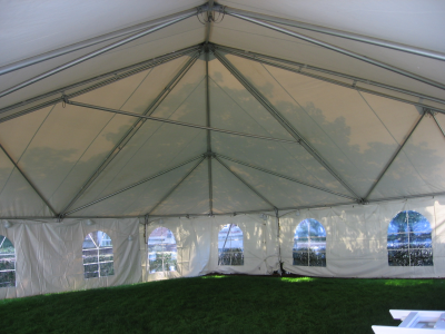 40 x 40 Frame Tent Inside View