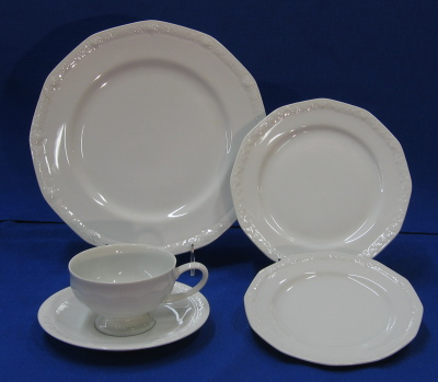 Fancy White China